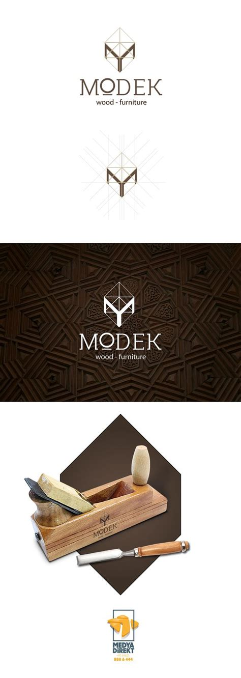 wood furniture logo design  furniture  pinterest