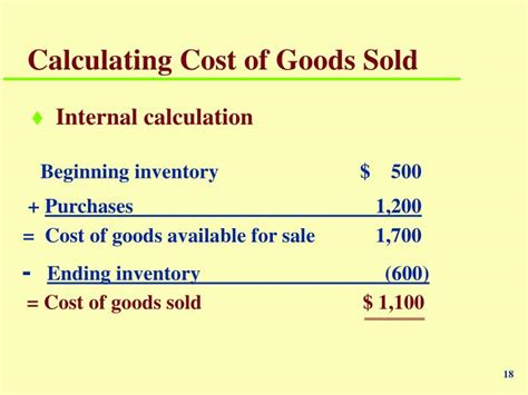 how to find cost of goods sold from balance sheet ppt chapter 7 powerpoint presentation id 6421395