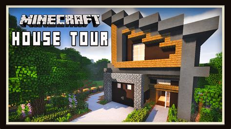minecraft awesome modern house design  youtube