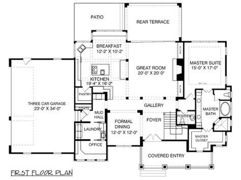 house plans with mudrooms houseplans com bungalow craftsman floor plan plan