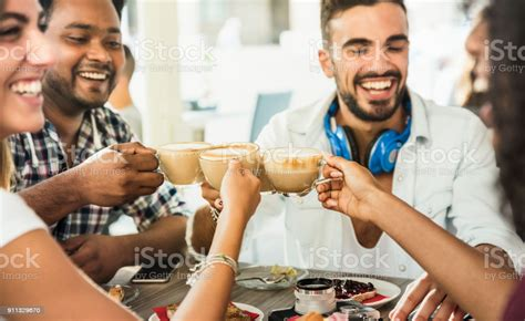 The latest ones are on may 06, 2021 6 new coffee for large groups results have been found in the. Friends Group Drinking Latte At Coffee Bar Restaurant People Talking And Having Fun Together At ...