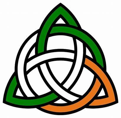 Clipart Irish Knot Celtic Trinity Transparent Flag