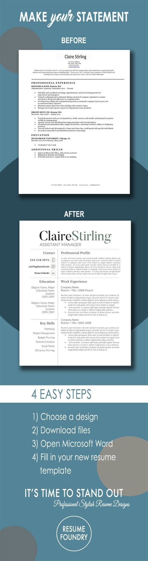 modern resume template  word   page resume cover