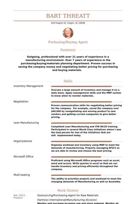 How To Write A Resume Profile For Purchasing by Purchasing Resume Sles Visualcv Resume Sles Database