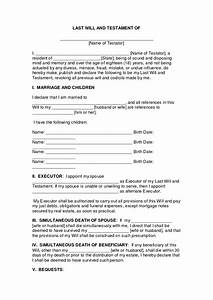 printable living will form freepsychiclovereadingscom With writing a will free template
