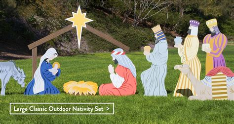 wooden outside nativity set outdoor nativity sets made in the usa outdoor nativity store