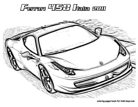 Ferrari Coloring Pages, Ferrari Pictures To Print