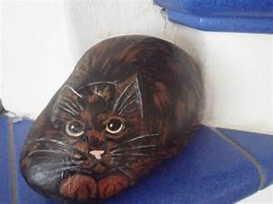 Steine Bemalen Katze : bemalter stein katze schildpatt bei ebay bemalter stein bemalte steine katzen tiere auf ~ Watch28wear.com Haus und Dekorationen