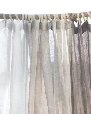 of the day eileen fisher sheer linen shower curtain