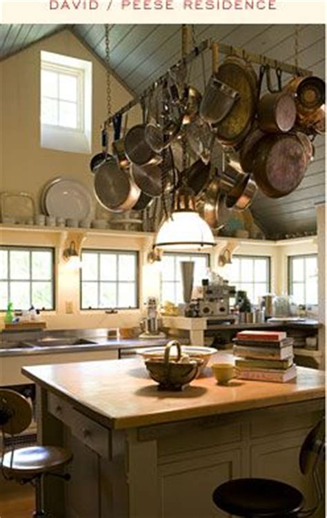 kitchen overhead pot racks vaulted kitchen ceiling with pot rack and eye level