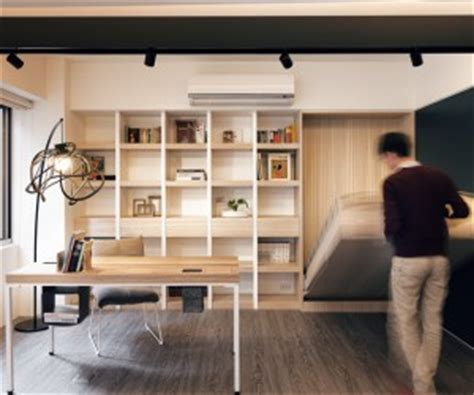 Small Apartment With Foldaway Features by Home Storage And Organization Furniture