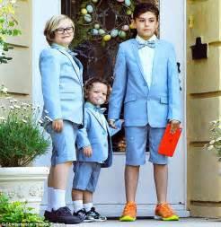 Gwen Stefani's sons Kingston, Zuma, and Apollo don dapper ...