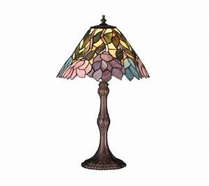 Tiffany styled wisteria lamp 21quoth page 1 qvccom for Tiffany floor lamp qvc