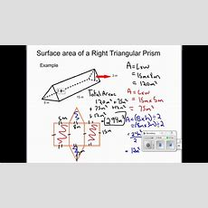 Solving For Surface Area Of Retangular Prisms, Right Triangular Prisms And Cylinders Youtube