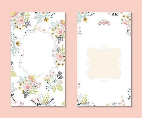 Invitation Backgrounds Vector Flowers Fresh Floral Wedding Invitation