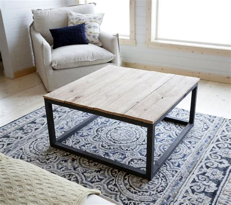 ana white industrial style coffee table    diy