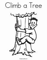 Tree Climb Coloring Climbing Boy Login Favorites sketch template