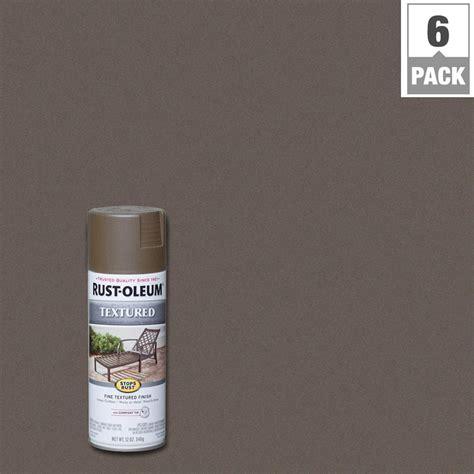 rust oleum stops rust 12 oz textured bronze protective enamel spray paint 6 7226830