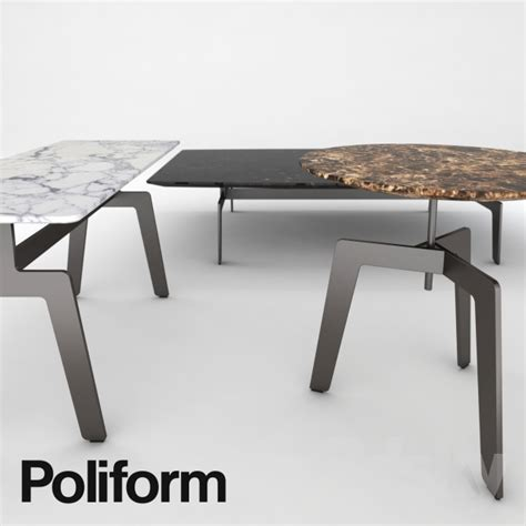 3d models: Table   Poliform Tribeca coffee table