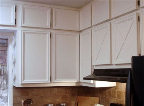 adding trim to plain cabinets home dzine kitchen add moulding and trim to cabinets