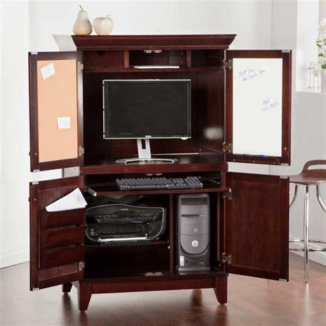 bureau armoire computer armoires for home office