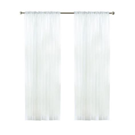 home decorators collection white sheer voile rod pocket