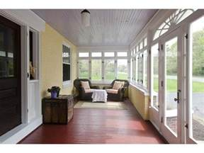 Inexpensive Screened In Porch Decorating Ideas by Enclosed Porch With Painted Board Floors And Ceilings