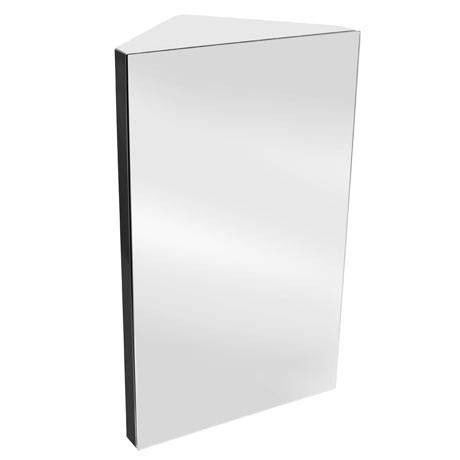 Stainless Steel Corner Bathroom Cabinet by Alberta Polished Stainless Steel Corner Mirror Cabinet