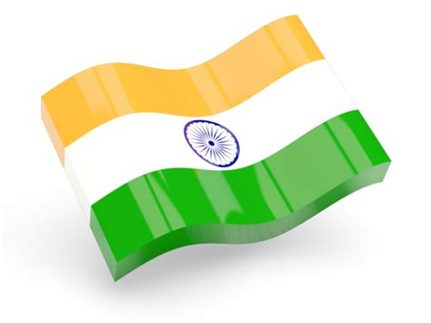 Glossy wave icon. Illustration of flag of India