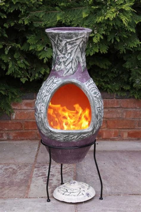 Mexican Clay Chimenea Earth Chiminea Patio Heater Fire