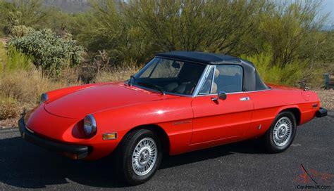 1978 Alfa Romeo Spider Veloce Convertible 2door 20l