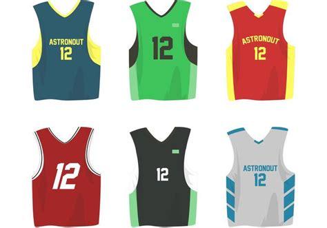 basketball sports jersey vectors   vector