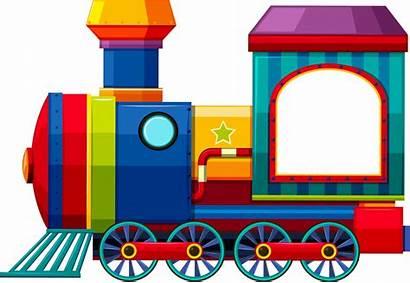 Train Clipart Toy Border Rail Transport Transparent