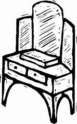 Furniture Vanity Coloring Pages sketch template
