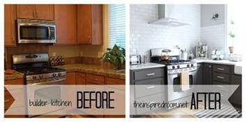 Painted Kitchen Cabinets Before And After Grey by Kitchen Cabinet Colors Before After The Inspired Room