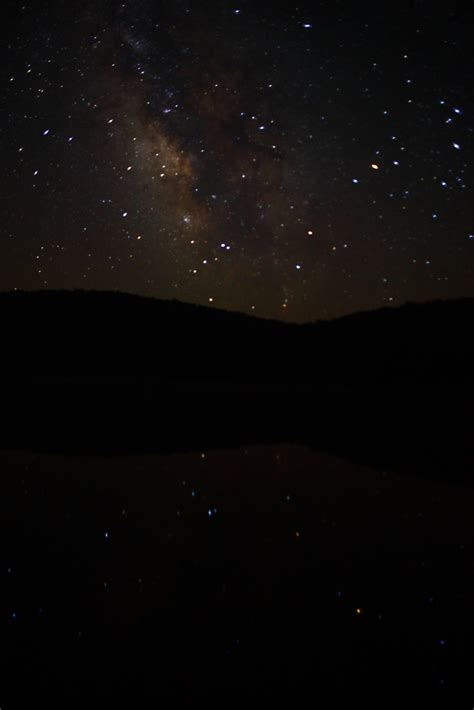 Milky Way Galaxy Reflections Mountain Lake Heavenly