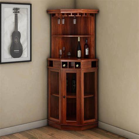 Corner Bar Cabinets griffin glass door solid rosewood corner wine bar cabinet
