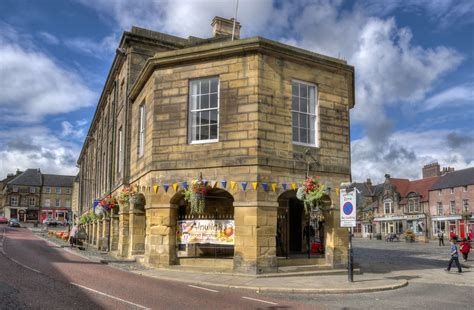 Alnwick town centre, Northumberland   This is ...