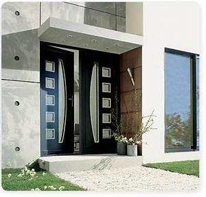 portes d39entree en aluminium serplaste With porte d entrée pvc avec ensemble accessoire pour salle de bain