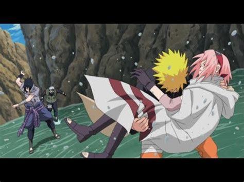 kakashi  naruto saves sakura  sasuke