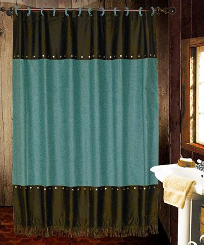 turquoise and brown shower curtain turquoise cheyenne shower curtain with coordinating rings
