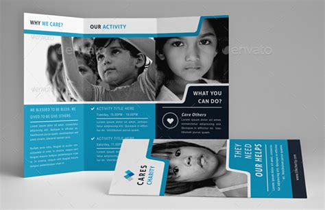 spectacular charity brochure templates  promote social