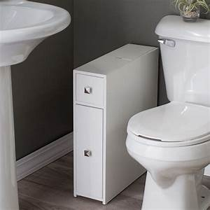 Belham living longbourn narrow bath cabinet space savers for Narrow bathroom cabinet