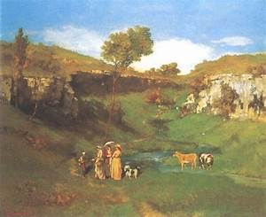 The village girls give a Kuhhirtin an al - Gustave Courbet