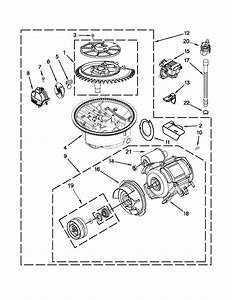 Pump And Motor Parts Diagram  U0026 Parts List For Model Mdb8959sbs2 Maytag