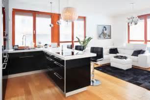 küche schwarz weiß mobel wohnküche