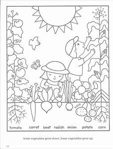 Simple Garden Coloring Coloring Pages