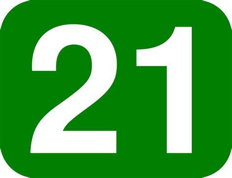 Number 21 Twenty · Free Vector Graphic On Pixabay
