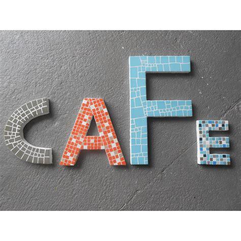 lettre mosaique pixels bleu 20 cm