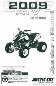 2009 Arctic Cat 300 Dvx Atv Owners Manual